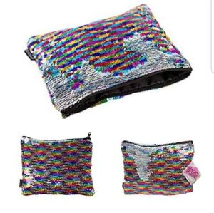 Handbags - Magic Sequin Reversible Sequin Rainbow to Silver
